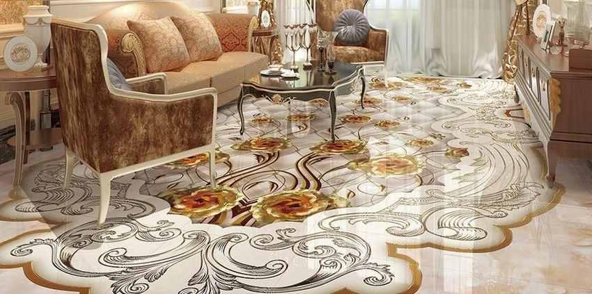 سرامیک کف طرح فرش