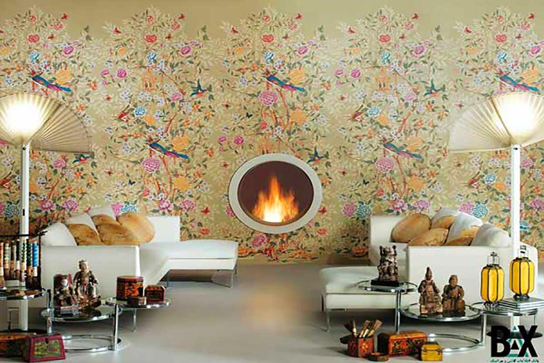 کاشی دیوار طرح کاغذ دیواری