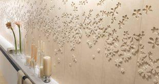 کاشی دیوار گلدار