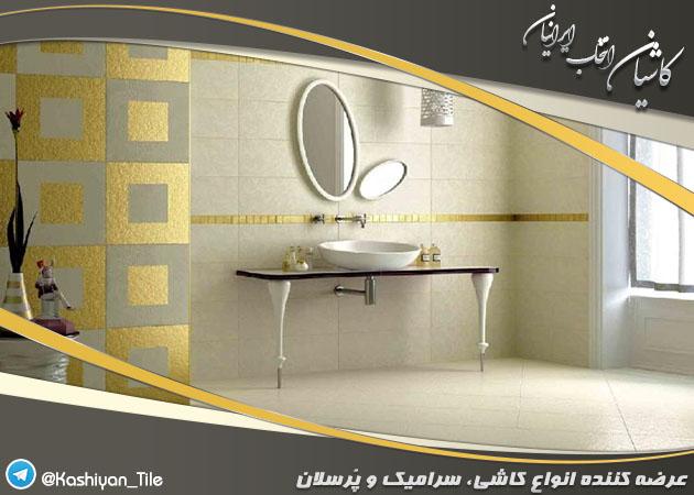 کاشی توالت و حمام گلدار